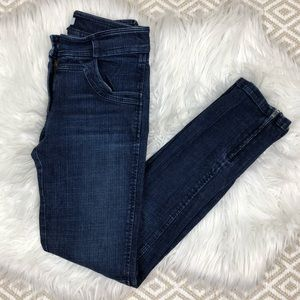 Emerson Fry Skinny Jeans 00 Ankle Zippers Blue